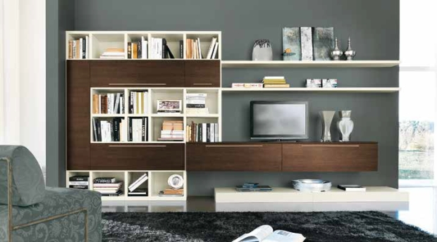 Libreria Vitalyty_L29_Frassino bianco e rovere brown