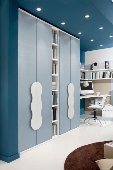PROPOSTA C124 • Particolare armadio 4/ante battenti con libreria a giorno