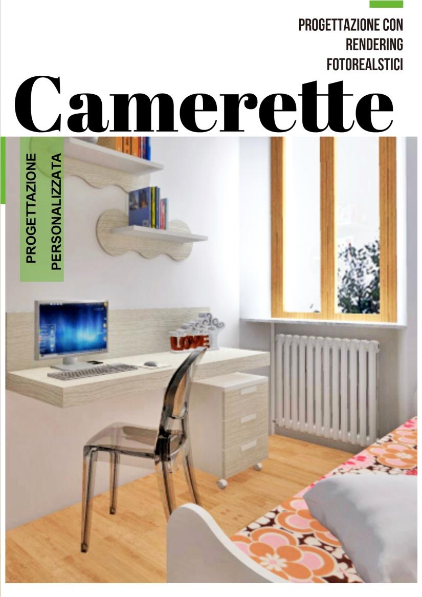 Progettazione con rendering fotorealistici di CAMERETTE • Dal progetto alla realizzazione