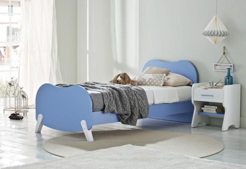 """PROPOSTA AC205 • Particolare del letto """"Micky"""" e comodino """"Dolly"""""""