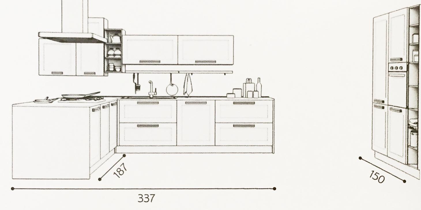 Moduli Cucine Componibili. Elegant La Mostra Il Quadro X Cucina ...
