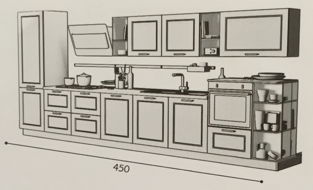 Creo kitchen Taimi 450 cm