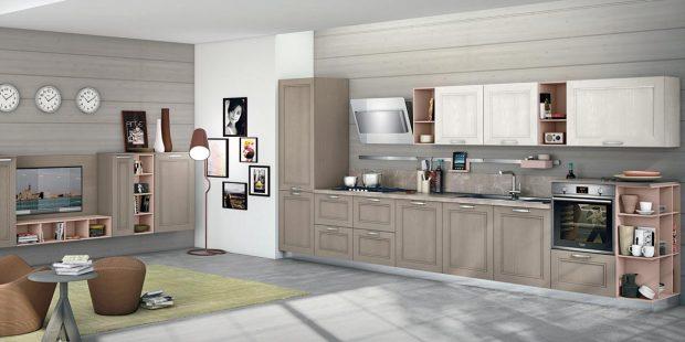 Creo kitchen Taimi frassino laccato visone 1
