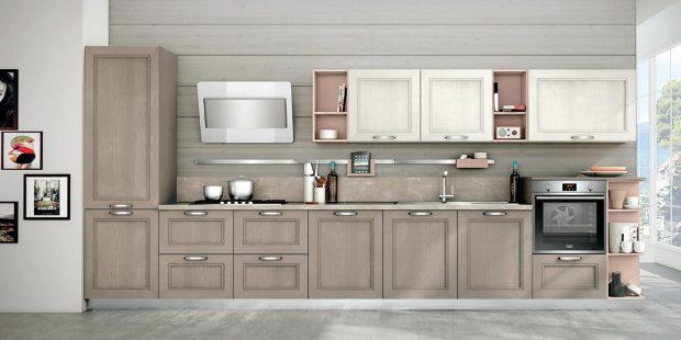 Creo kitchen Taimi frassino laccato visone 2