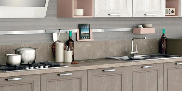 Creo kitchen Taimi frassino laccato visone 3