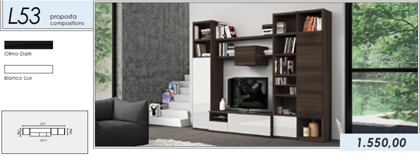 Libreria p.tv_L53_olmo dark-bianco lux