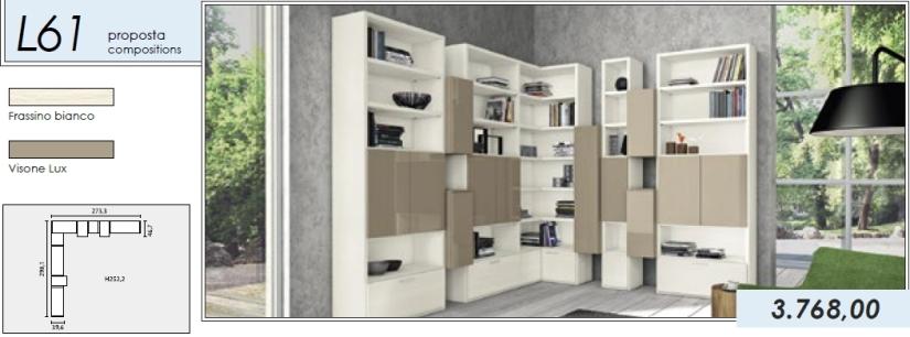 Libreria p.tv_L61_frassino bianco-visone lux