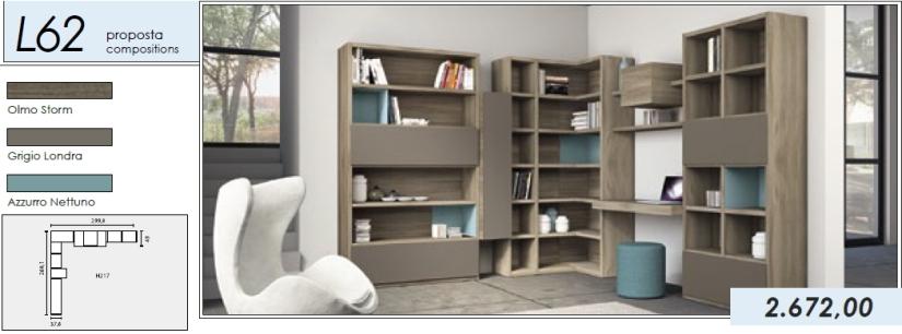 Libreria p.tv_L62_olmo storm-grigio londra-azzurro nettuno