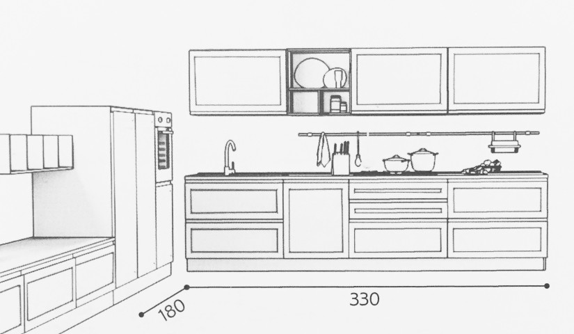 Cucina Mod. SELMA • 330 x 180 cm – House Design Arredamenti