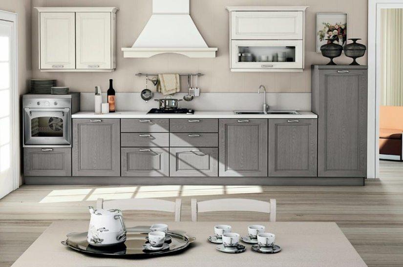 Cucina Raila creo kitchens 1_grigio polvere e bianco camelia