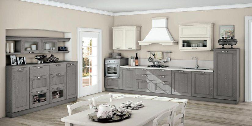 Cucina Raila creo kitchens 2_grigio polvere e bianco camelia