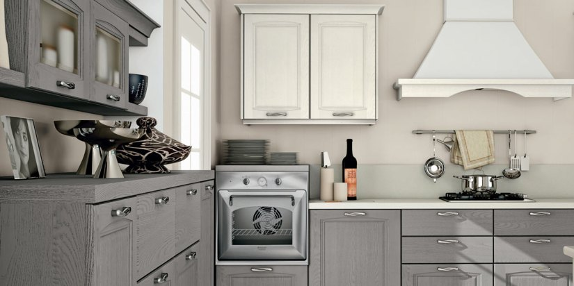 Cucina Raila creo kitchens 3_grigio polvere e bianco camelia