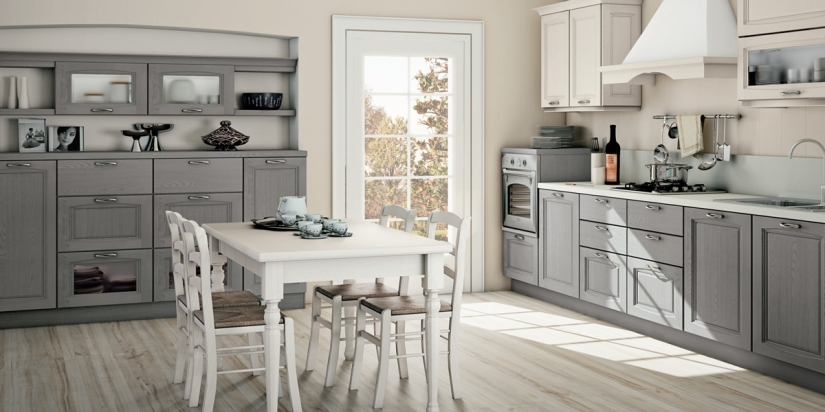 Cucina Raila creo kitchens 4_grigio polvere e bianco camelia