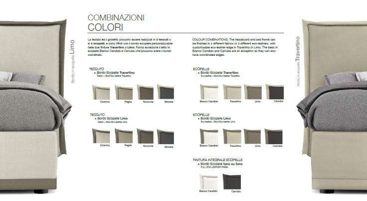 Letto imbottito contenitore Pad combinazione colori