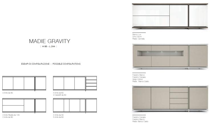 Madie Gravity H.85 L.244 proposte cromatiche