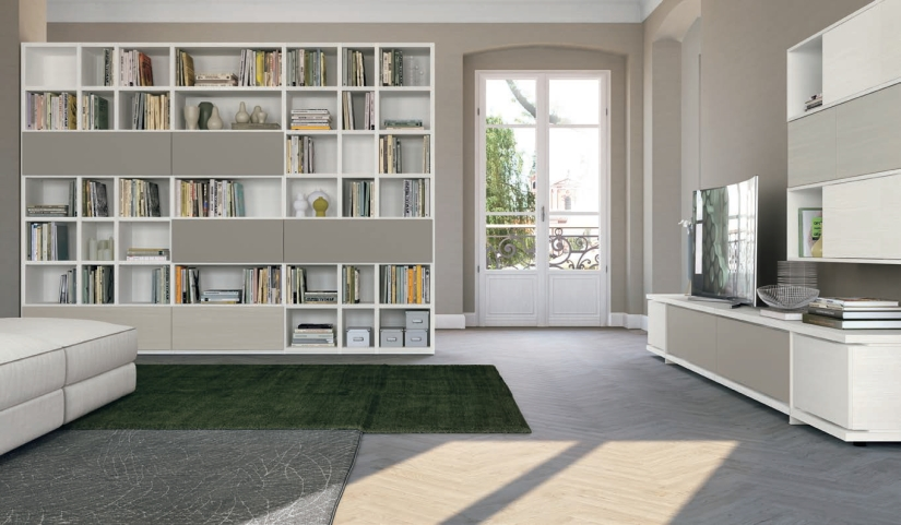 Soggiorno Vitalyty _Dettagli Postmoderni _bianco e grigio