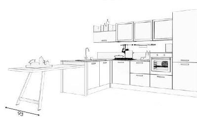 Cucina Kyra vintage 62 disegno