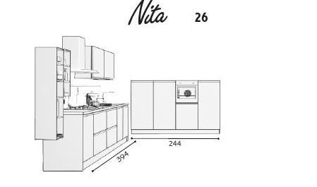 Cucina creo Nita composizione 26 misure