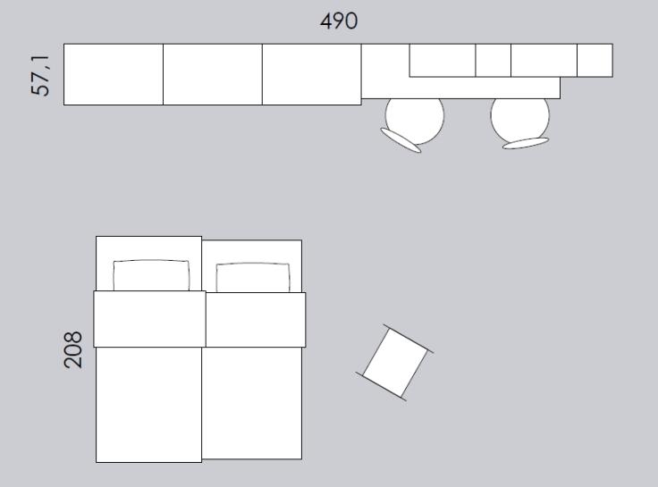 cameretta colombini ancona C116 misure