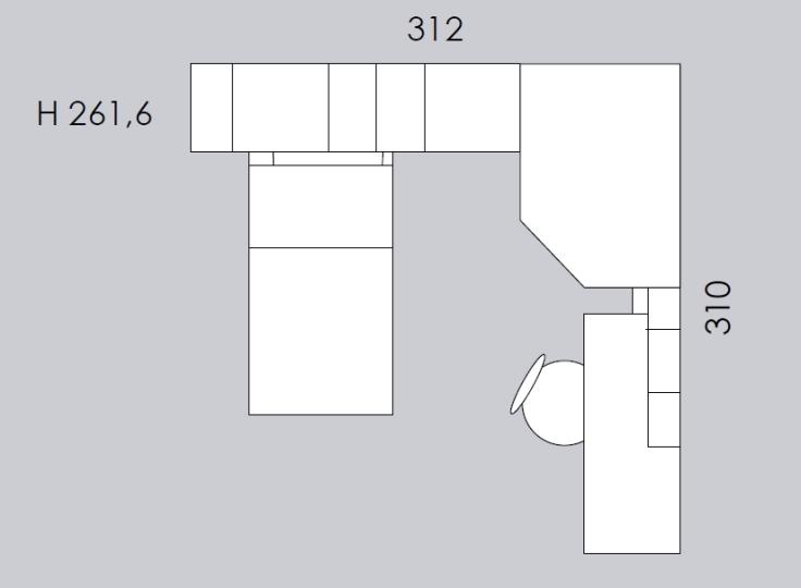 cameretta colombini ancona C146 misure