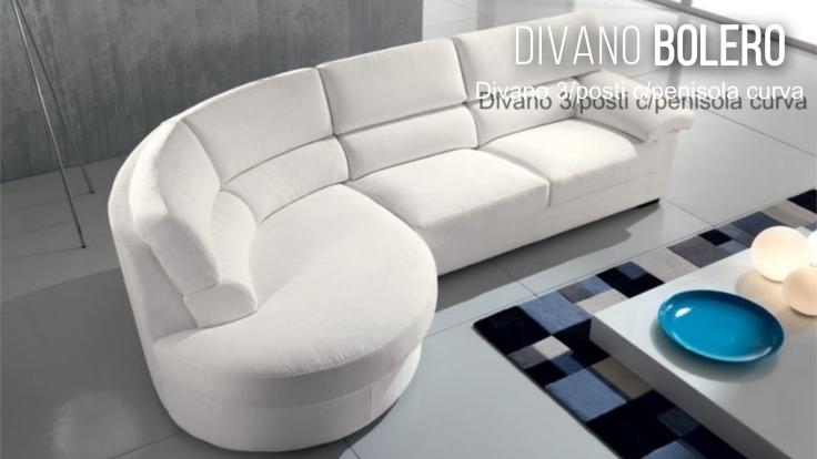 promozione+divano+pensiola+Ancona+bolero con penisola curva