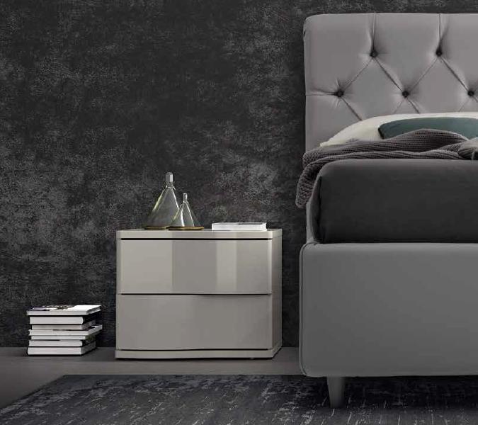 comodino-grigio-lucido-colombini-in-Ancona-modello-gioia