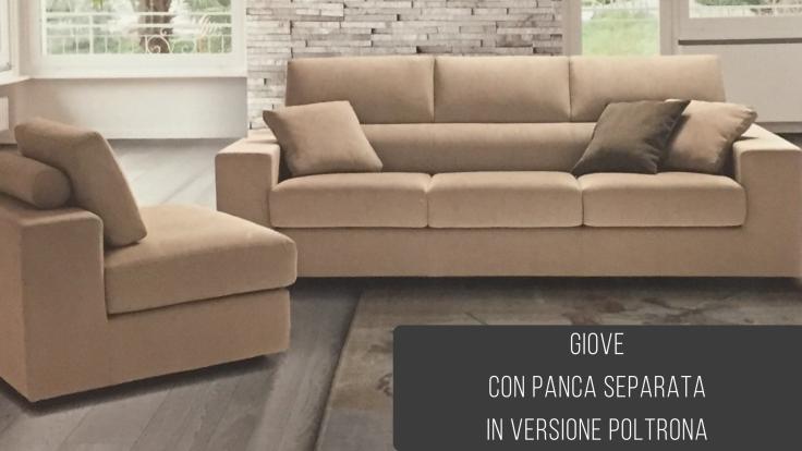 promozione+divano+penisola+Ancona+Giove con panca separata